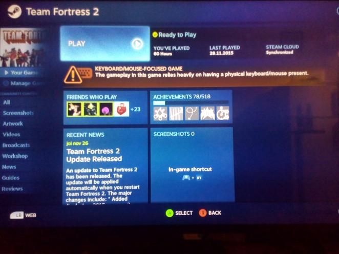 Team Fortress 2 - 60h gamepad