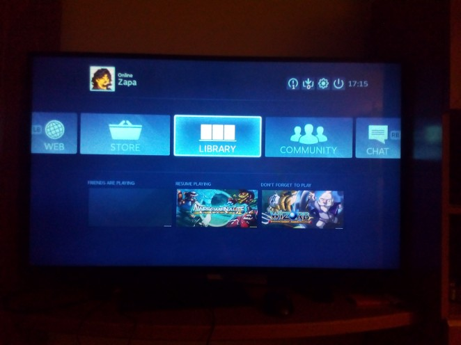 Fail interface SteamOS